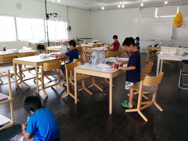 ロボット教室上田東校の様子