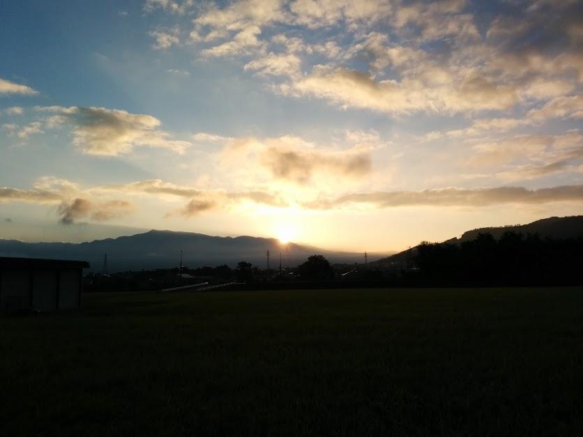 信州上田 田んぼ 日の出2